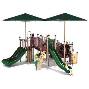 Slides on swing sets