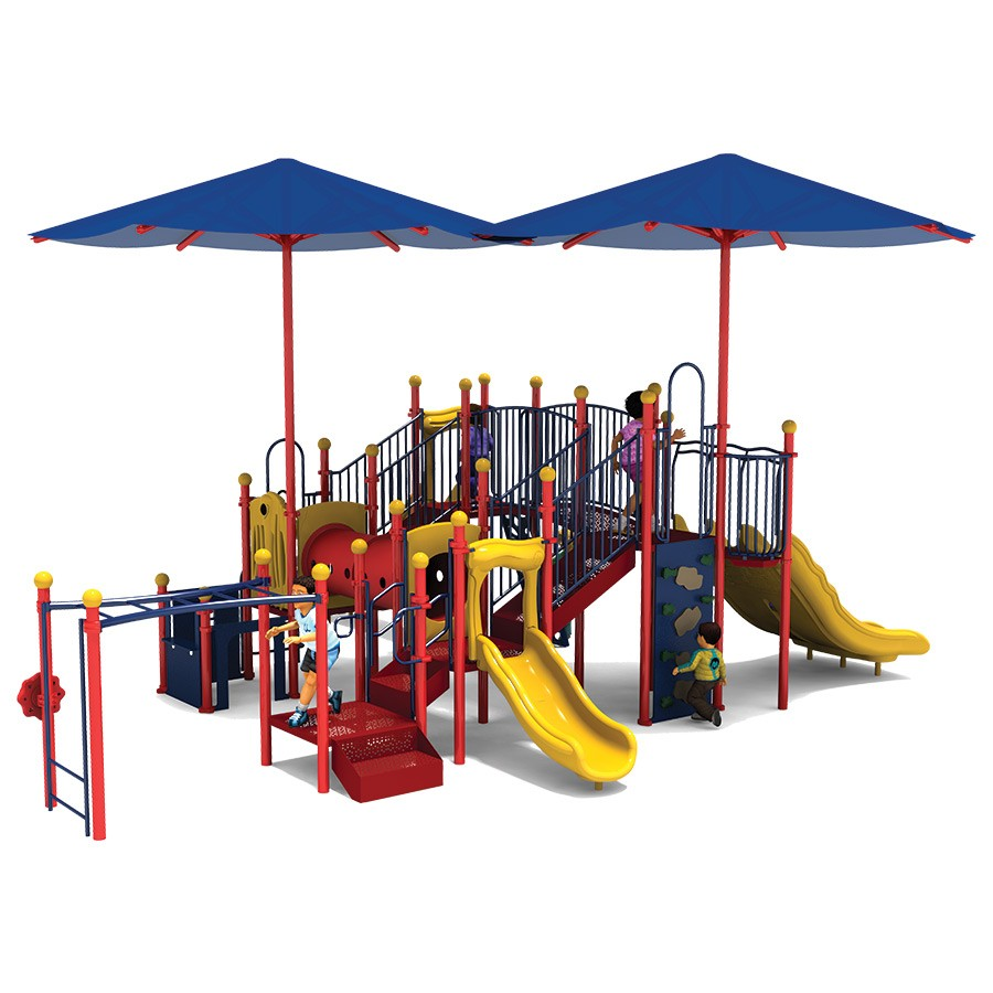 Swing sets with Slide