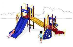 plastic kiddie slides