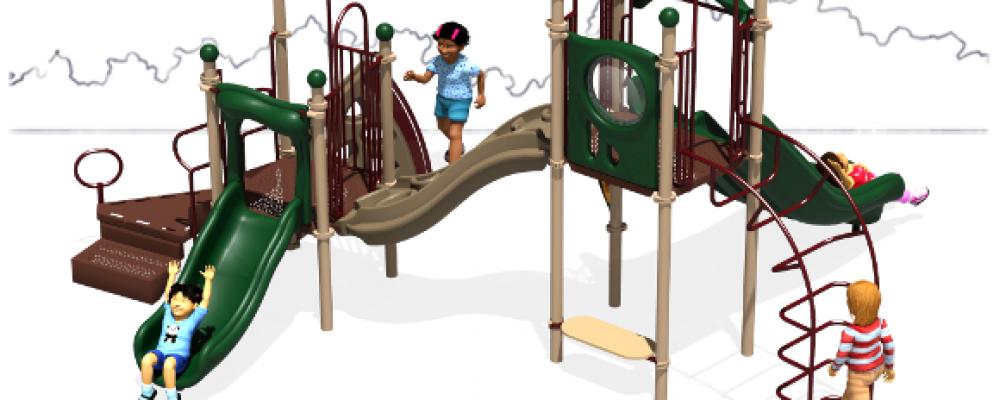 Get your Plastic Kiddie Slides here!