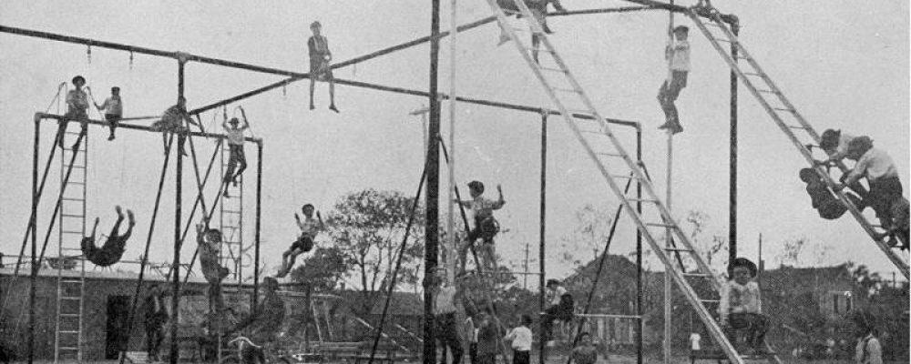 History of Playgrounds, Playground equipment